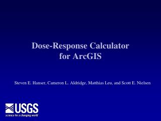 Dose-Response  Calculator  for ArcGIS