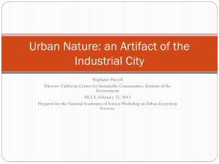 Urban Nature: an Artifact of the Industrial City
