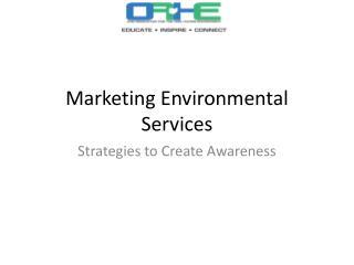 Marketing Environmental Services