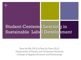Student-Centered Learning in Sustainable  Label Development
