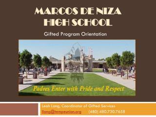Marcos de  Niza High  School