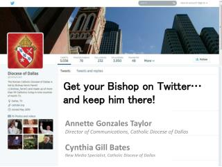 Get your Bishop on Twitter… and keep him there!