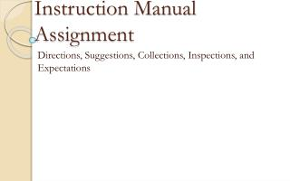 Instruction Manual Assignment
