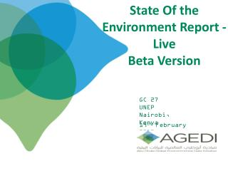 State Of the  Environment Report - Live   Beta Version