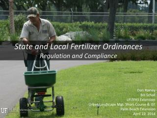 State and Local Fertilizer Ordinances  Regulation and Compliance