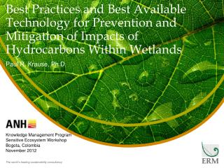 Best Practices and Best Available Technology for Prevention and Mitigation of Impacts of Hydrocarbons  W ithin Wetlands