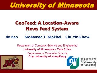 GeoFeed: A Location-Aware News Feed System