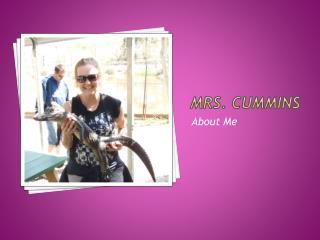 Mrs. Cummins