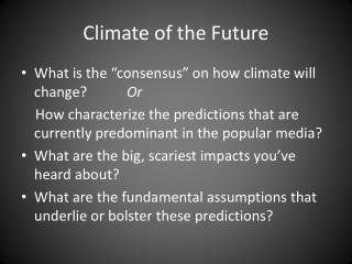 Climate of the Future