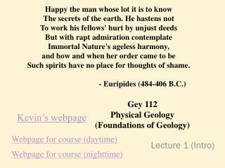 Lecture 1 (Intro)