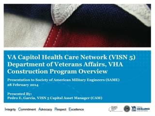 VA Capitol Health Care Network (VISN 5) Department of Veterans Affairs, VHA Construction Program Overview