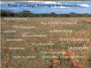 Winds of Change Blowing in the Humanities