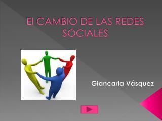 El CAMBIO DE LAS REDES SOCIALES