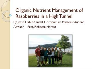 Organic Nutrient Management of Raspberries in a High Tunnel