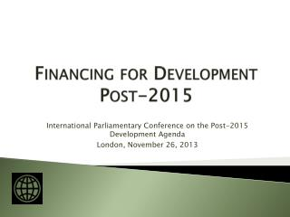 Financing for Development  Post-2015