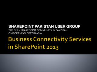 Business Connectivity Services in SharePoint 2013