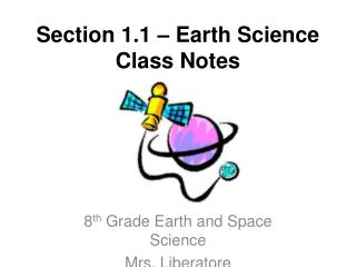 Section 1.1 � Earth Science Class Notes