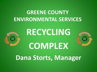 GREENE COUNTY ENVIRONMENTAL SERVICES