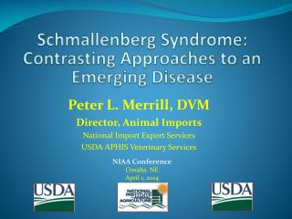 Schmallenberg  Syndrome:  Contrasting Approaches to an Emerging Disease