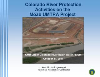 Colorado River Protection  Activities on the  Moab UMTRA Project