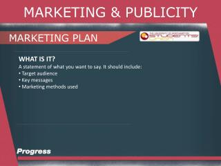 MARKETING & PUBLICITY