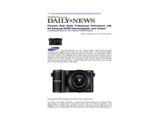 the samsung nx200 interchangeable lens camera (ny dailynews)