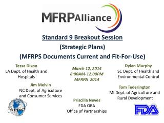 Standard  9  Breakout  Session (Strategic Plans) (MFRPS Documents Current and Fit-For-Use)