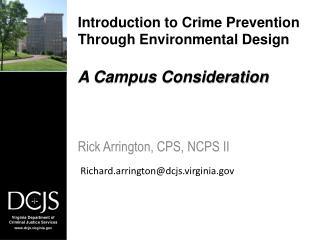 Introduction to Crime Prevention Through Environmental Design A Campus Consideration