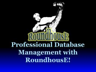 Professional Database Management with RoundhousE!