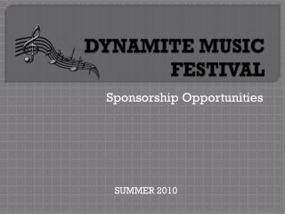 DYNAMITE MUSIC FESTIVAL