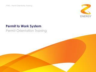 Permit to Work System