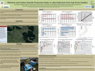 Methane and Carbon Dioxide Production Rates in Lake Sediments from Sub-Arctic Sweden