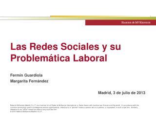 Las Redes Sociales y su Problemática Laboral