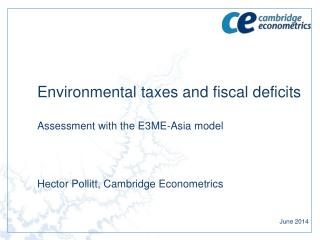 Environmental taxes and fiscal  deficits