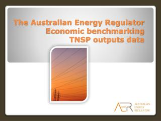 The Australian Energy Regulator Economic benchmarking  TNSP outputs data