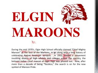 ELGIN MAROONS