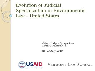 Evolution of Judicial Specialization in Environmental Law – United States