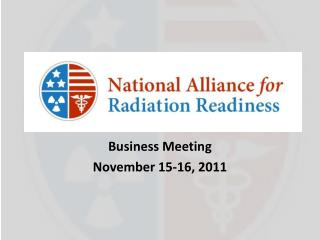 Business Meeting  November 15-16, 2011