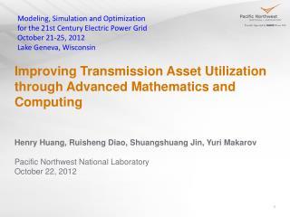 Improving Transmission Asset Utilization through Advanced Mathematics and Computing