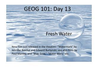 GEOG 101: Day 13