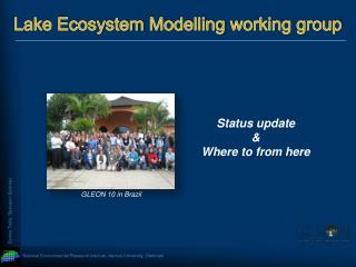 Lake Ecosystem  Modelling  working group
