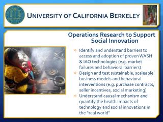 Operations Research to Support Social Innovation