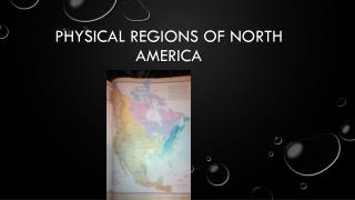 Physical regions of north America