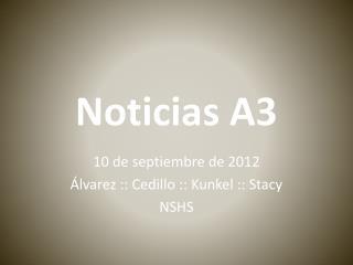 Noticias  A3