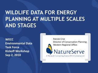 Wildlife Data for energy planning at multiple scales and stages
