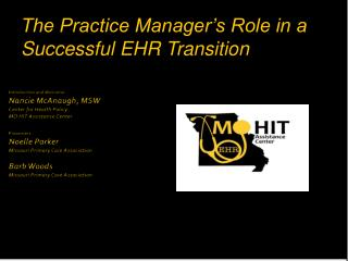 The Practice Manager's Role in a Successful EHR Transition