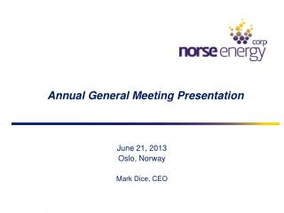 Annual General Meeting Presentation