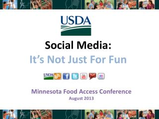 Social Media:  It's Not Just For Fun