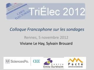 Colloque Francophone sur les sondages