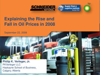 Explaining the Rise and Fall in Oil Prices in 2008 September 22, 2008